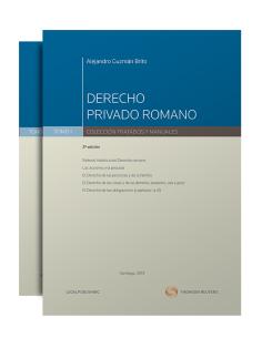 DERECHO PRIVADO ROMANO - 2 TOMOS