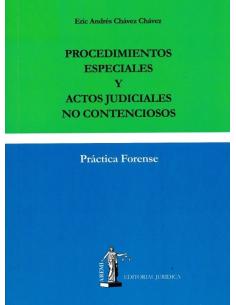 PROCEDIMIENTOS ESPECIALES Y ACTOS JUDICIALES NO CONTENCIOSOS