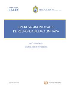 EMPRESAS INDIVIDUALES DE RESPONSABILIDAD LIMITADA