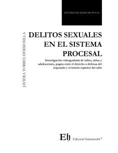 DELITOS SEXUALES EN EL SISTEMA PROCESAL - Investigación videograbada de niños, niñas y adolescentes