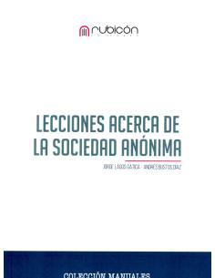 LECCIONES ACERCA DE LA SOCIEDAD ANÓNIMA