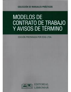 MODELOS DE CONTRATOS DE TRABAJO Y EL AVISO DE TÉRMINO