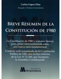 BREVE RESUMEN DE LA CONSTITUCIÓN DE 1980