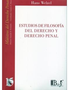 (15) ESTUDIOS DE FILOSOFÍA DEL DERECHO Y DERECHO PENAL