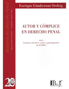 (20) AUTOR Y CÓMPLICE EN DERECHO PENAL