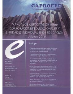 MANUAL DE CAPACITACION SOBRE CORPORACIONES EDUCACIONALES Y ENTIDADES INDIVIDUALES DE EDUCACIÓN